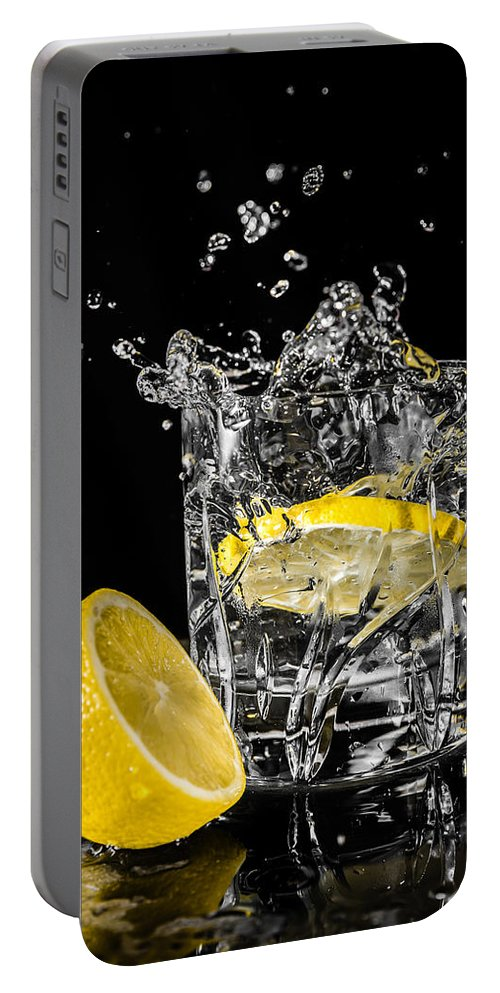 Drink Portable Battery Charger featuring the photograph Ice And A Slice by Nick Bywater