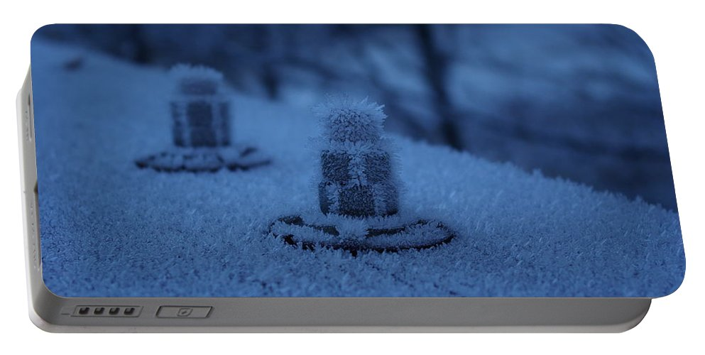 Ice Portable Battery Charger featuring the photograph Ice Bolts by Cindy Johnston