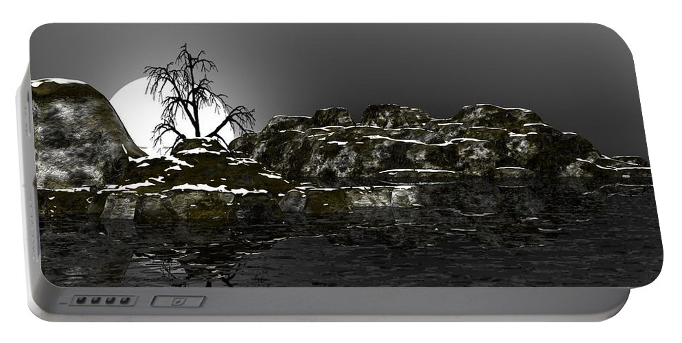 Fine Art Portable Battery Charger featuring the digital art Ice Cold by David Lane
