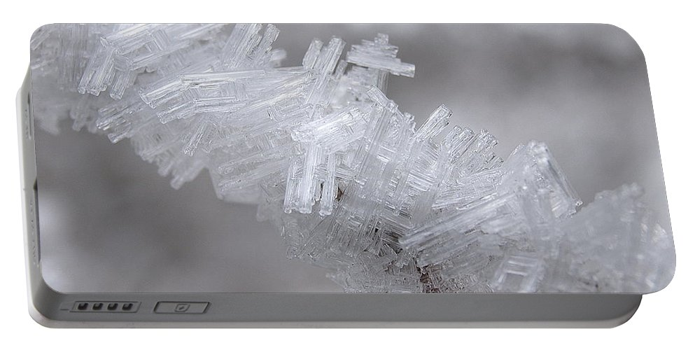 Winter Portable Battery Charger featuring the photograph Ice Crystals by DeeLon Merritt