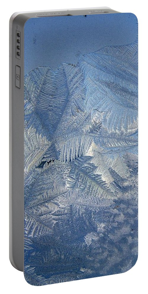 Ice Portable Battery Charger featuring the photograph Ice Crystals by Rhonda Barrett