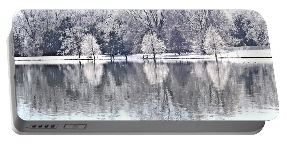 Ice Portable Battery Charger featuring the photograph Ice Park by Charleen Treasures