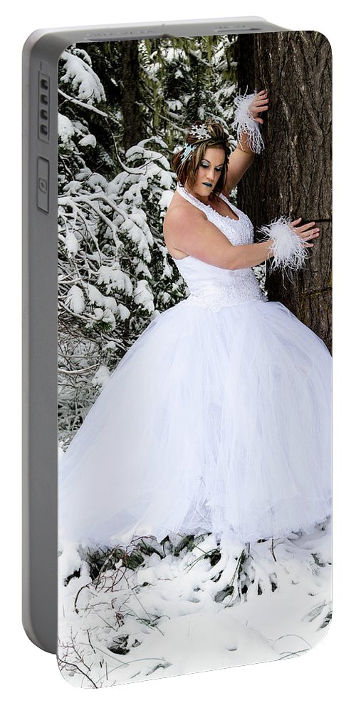 Jeff Kinder Portable Battery Charger featuring the photograph Ice Princess Sara 10 by Jeff Kinder