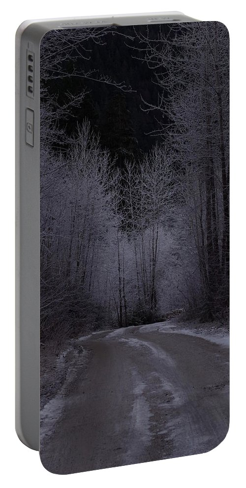 Ice Portable Battery Charger featuring the photograph Ice Road by Cindy Johnston