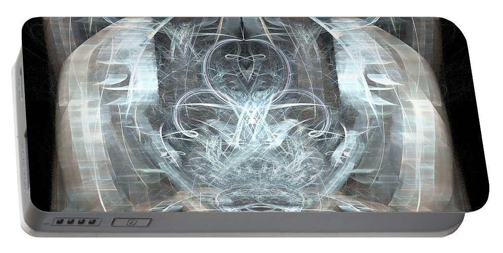 Meditative Portable Battery Charger featuring the digital art Ice Temple by Emilio Pacheco