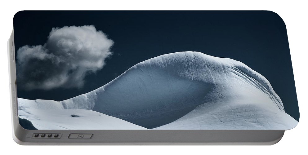 Landscape Portable Battery Charger featuring the photograph Iceberg And Cloud by Kedar Munshi