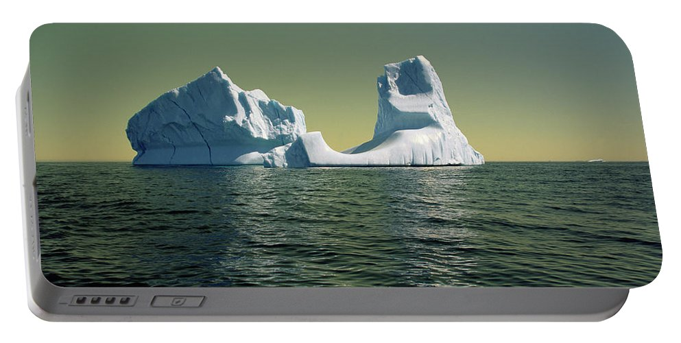 00342146 Portable Battery Charger featuring the photograph Iceberg in the Labrador Sea by Yva Momatiuk John Eastcott