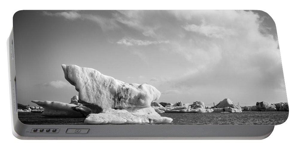 Europe Portable Battery Charger featuring the photograph Icebergs by Alexey Stiop