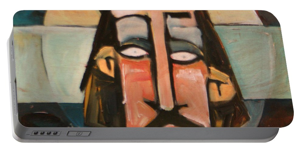 Christ Portable Battery Charger featuring the painting Icon Number 1 by Tim Nyberg
