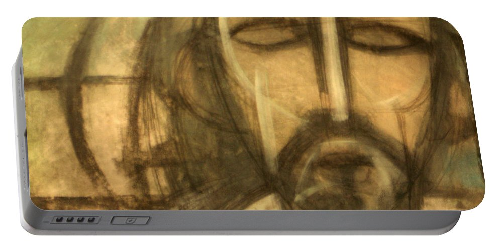 Christ Portable Battery Charger featuring the painting Icon Number 6 by Tim Nyberg
