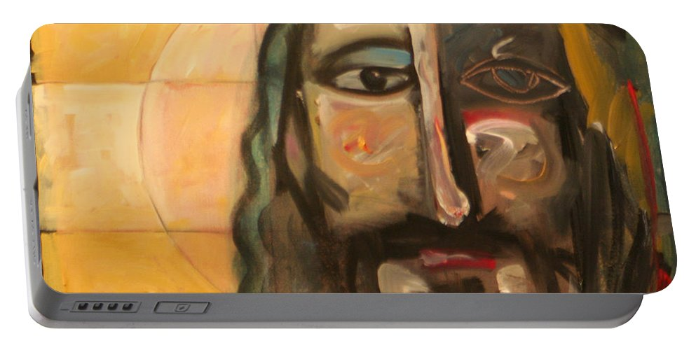 Christ Portable Battery Charger featuring the painting Icon Number Four by Tim Nyberg