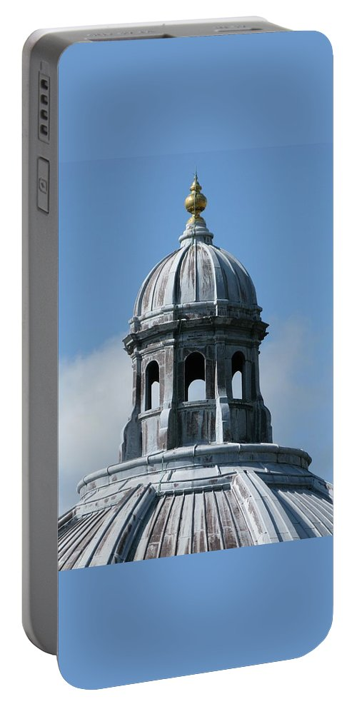 Oxford University Portable Battery Charger featuring the photograph Iconic Dome by Ann Horn