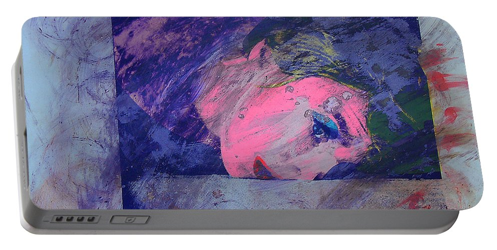 Psycho Portable Battery Charger featuring the painting Iconoclasm by Charles Stuart