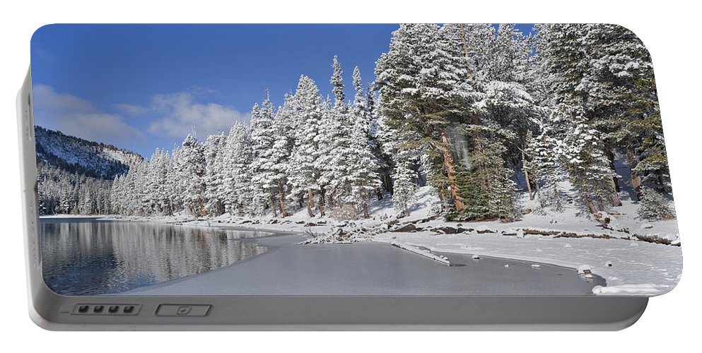 Water Portable Battery Charger featuring the photograph Icy by Kelley King
