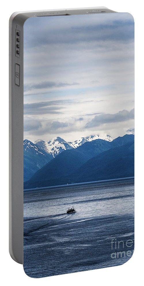 Alaska Portable Battery Charger featuring the photograph Icy Strait Fishing by John Greim