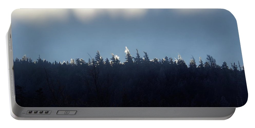 Ice Portable Battery Charger featuring the photograph Icy Sunrise by Cindy Johnston