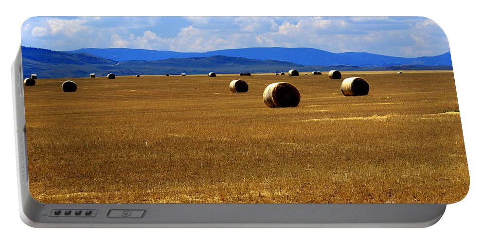 Idaho Portable Battery Charger featuring the photograph Idaho Hay by Marty Koch