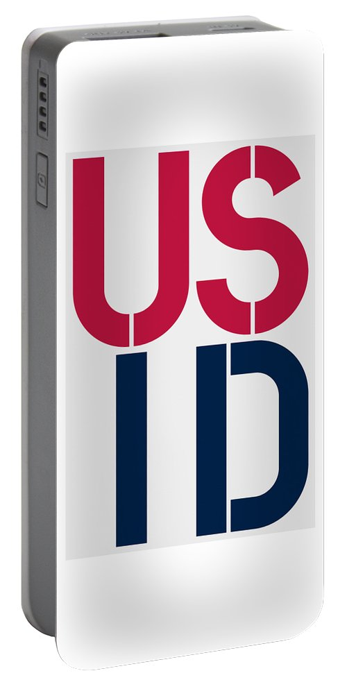 United States Of America Portable Battery Charger featuring the painting Idaho by Three Dots