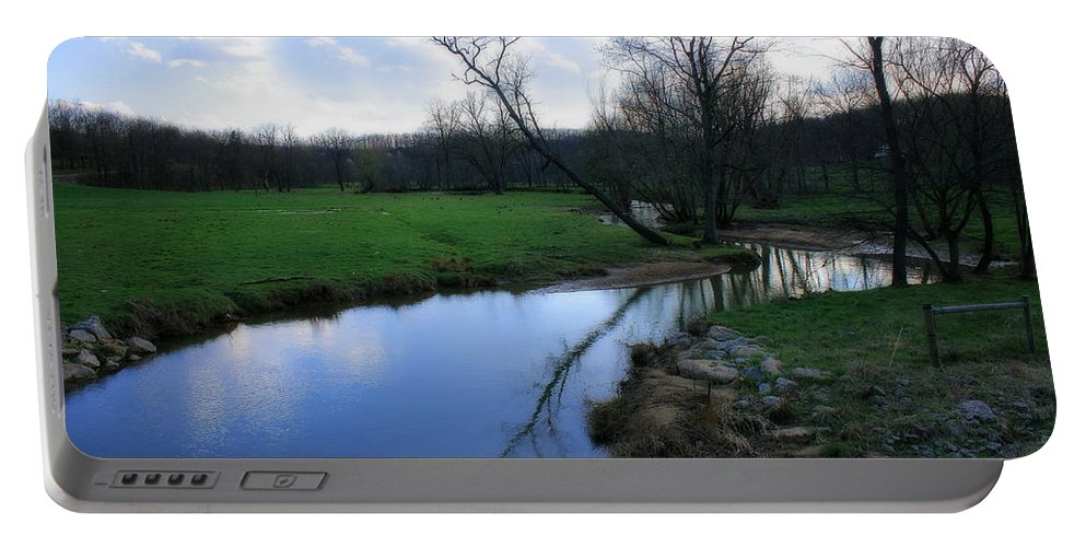 Landscape Portable Battery Charger featuring the photograph Idyllic Creek by Angela Rath