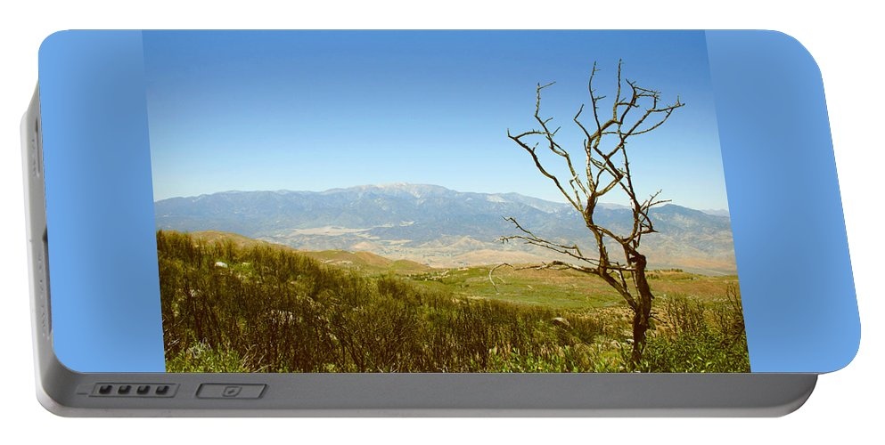 Landscape Portable Battery Charger featuring the photograph Idyllwild Mountain View With Dead Tree by Ben and Raisa Gertsberg