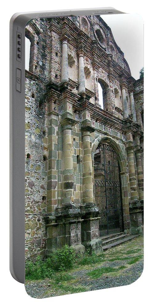Flat Portable Battery Charger featuring the photograph Iglesia De La Compania De Jesus 2 by Douglas Barnett