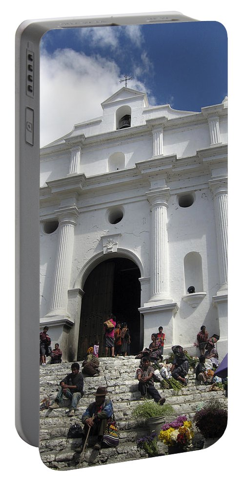 Chichicastenango Portable Battery Charger featuring the photograph Iglesia De Santo Tomas Church by Kurt Van Wagner