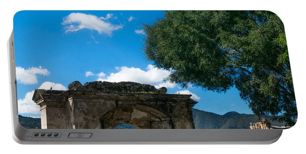Iglesia San Francisco Portable Battery Charger featuring the photograph Iglesia San Francisco - Antigua Guatemala Gate by Totto Ponce