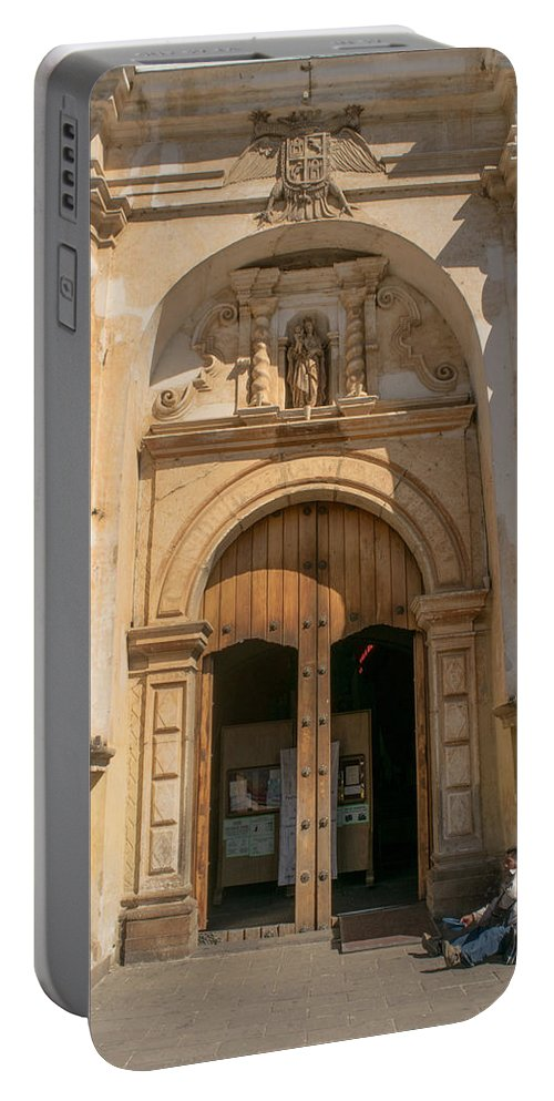 Iglesia San Francisco Portable Battery Charger featuring the photograph Iglesia San Francisco - Antigua Guatemala Viii by Totto Ponce