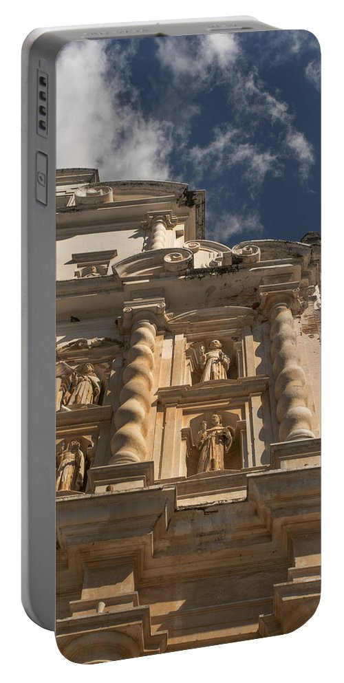 Iglesia San Francisco Portable Battery Charger featuring the photograph Iglesia San Francisco - Antigua Guatemala Xi by Totto Ponce