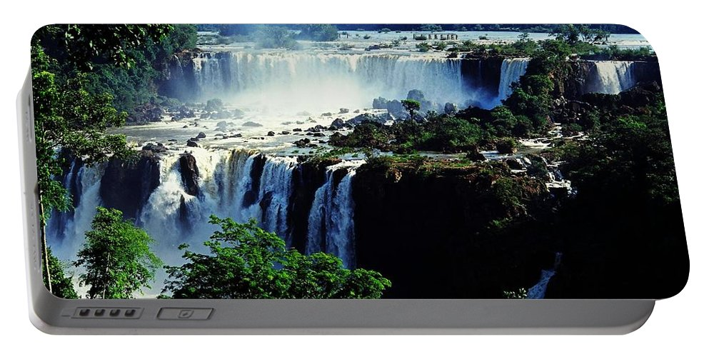 South America Portable Battery Charger featuring the photograph Iguacu Waterfalls by Juergen Weiss