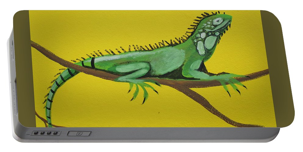 Iguana Portable Battery Charger featuring the photograph Iguana by Anthony Schafer