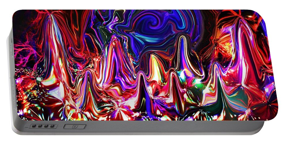Portable Battery Charger featuring the digital art Illumination by Charles Duax