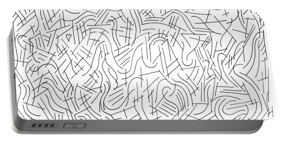 Pen Portable Battery Charger featuring the drawing Illusory by Steven Natanson