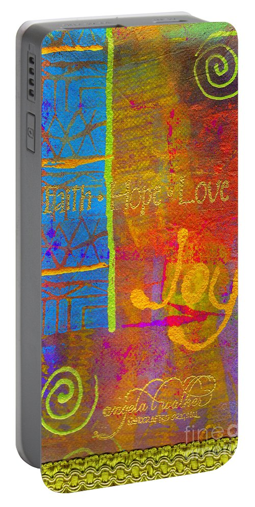 Woman Portable Battery Charger featuring the mixed media Imagine Joy by Angela L Walker