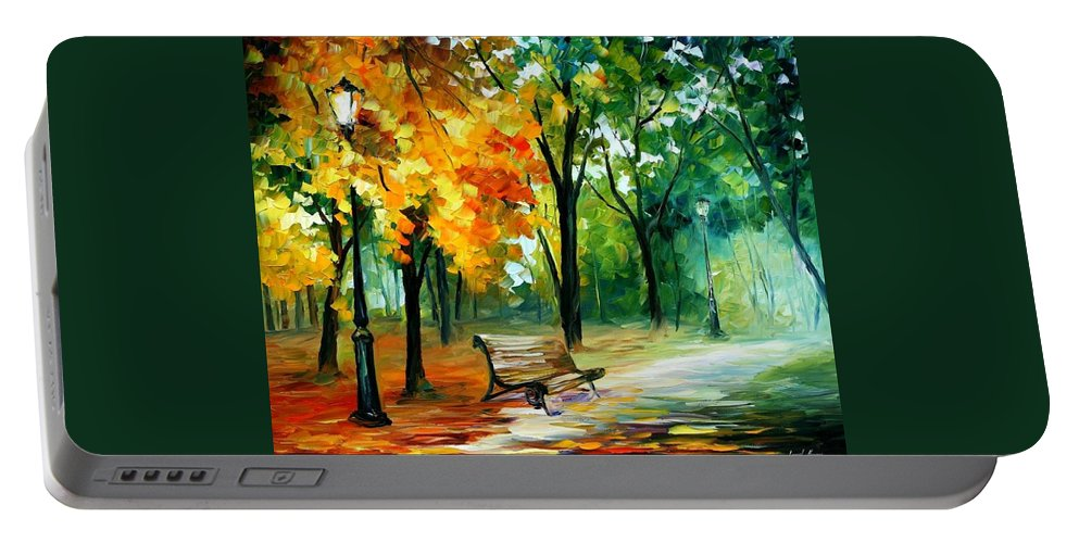 Afremov Portable Battery Charger featuring the painting Imaginings by Leonid Afremov