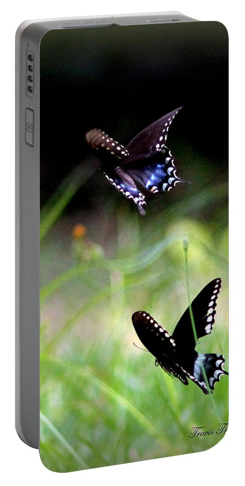 Butterfly Portable Battery Charger featuring the photograph Img_1521 - Butterfly by Travis Truelove