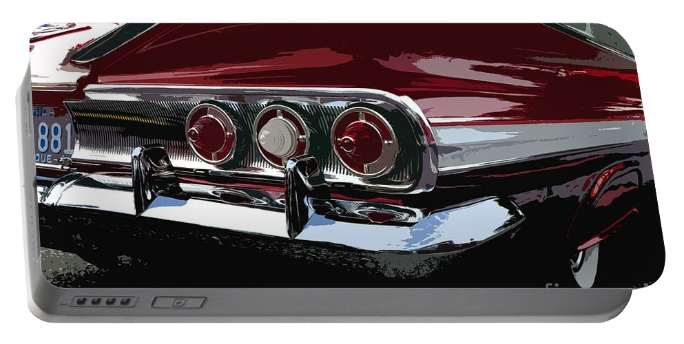 Impala Portable Battery Charger featuring the painting Impala by David Lee Thompson