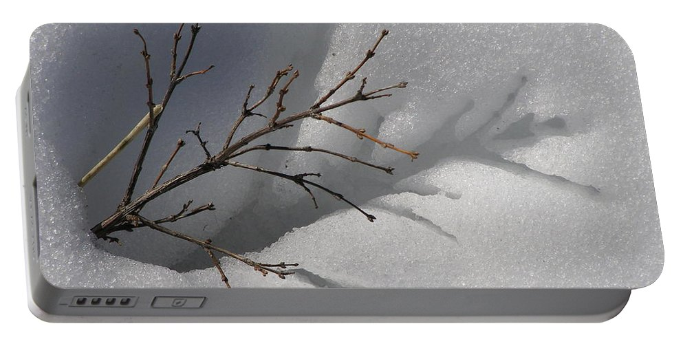 Snow Portable Battery Charger featuring the photograph Impressions by DeeLon Merritt