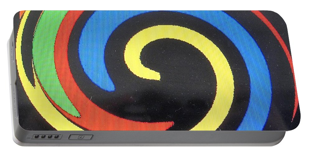 Red Portable Battery Charger featuring the digital art In Balance by Ian MacDonald