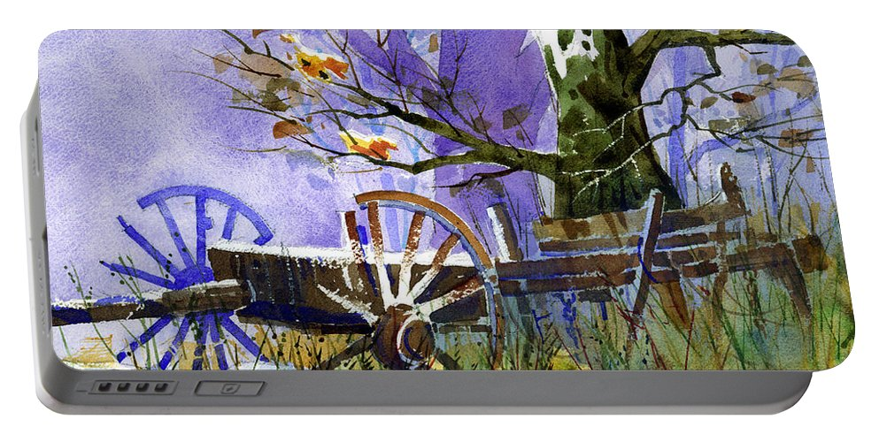 Antiques Portable Battery Charger featuring the painting In Harmony by Lee Klingenberg