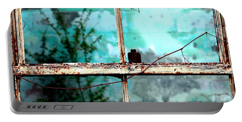 Windows Portable Battery Charger featuring the photograph In Or Out by Amanda Barcon