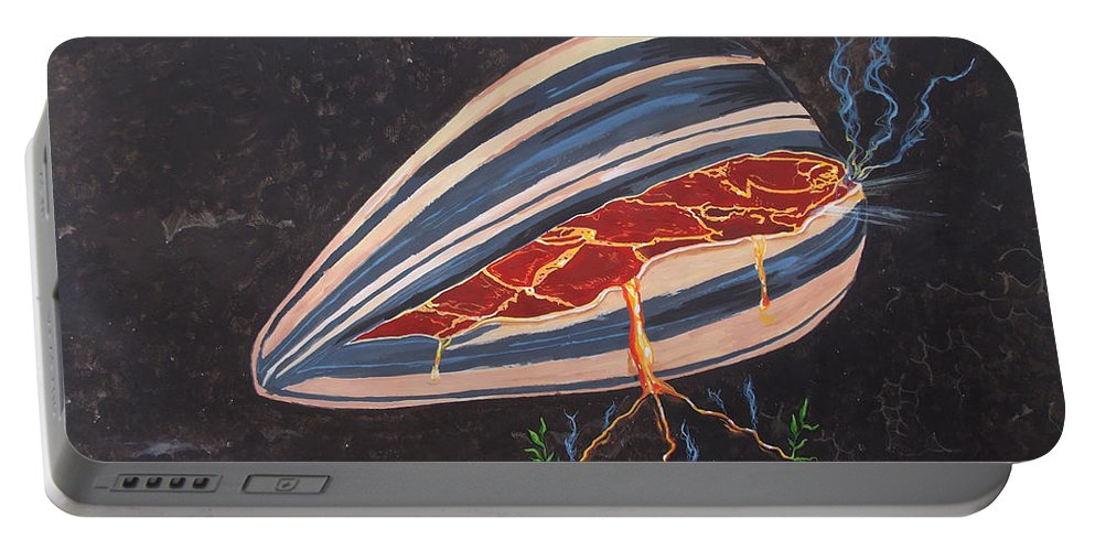Surreal Portable Battery Charger featuring the painting In Seed by Lazaro Hurtado
