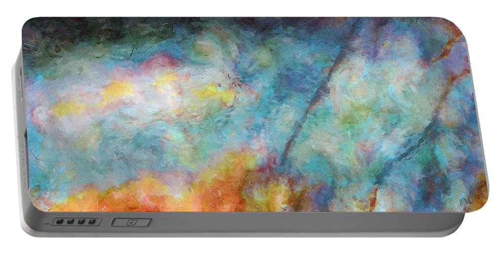 Figure Portable Battery Charger featuring the painting In The Beginning by RC DeWinter