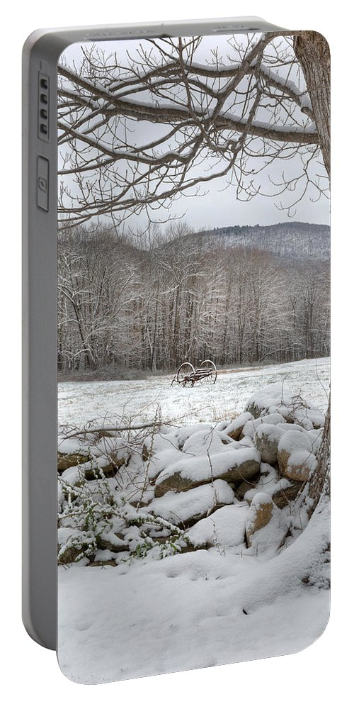 Winter Portable Battery Charger featuring the photograph In The Field by Bill Wakeley