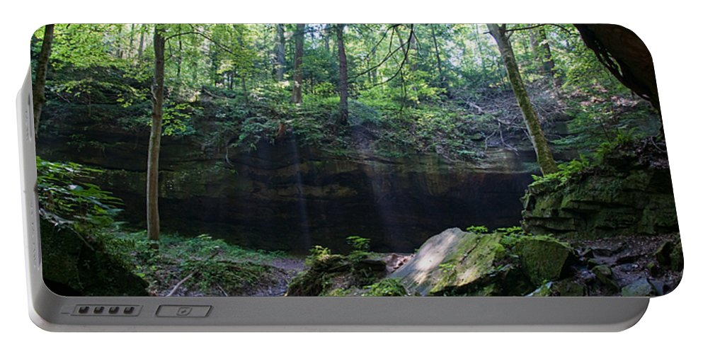 Light Portable Battery Charger featuring the photograph In The Garden Of The Rocks by David Arment
