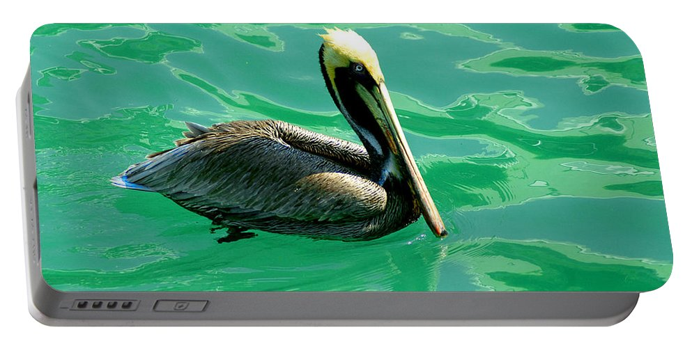 Pelican Portable Battery Charger featuring the photograph In The Green Zone by Susanne Van Hulst