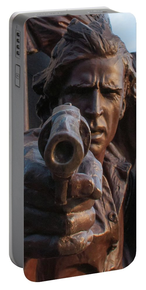 Virginia State Monument Portable Battery Charger featuring the photograph In The Heat Of Battle by Kat Zalewski-Bednarek