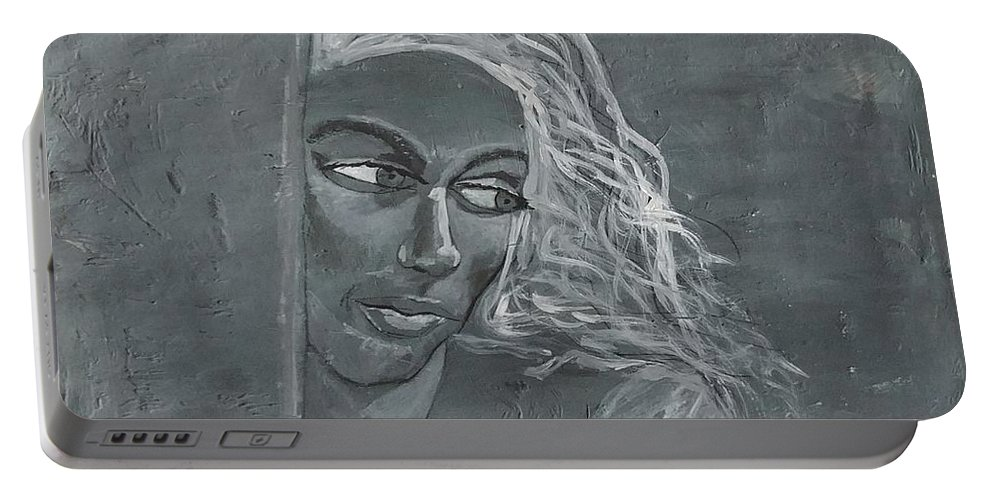 Women Portable Battery Charger featuring the painting In The Moon Light by J Bauer