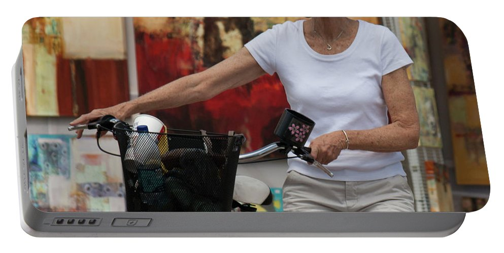 Bicycle Portable Battery Charger featuring the photograph In The Park by Donna Walsh