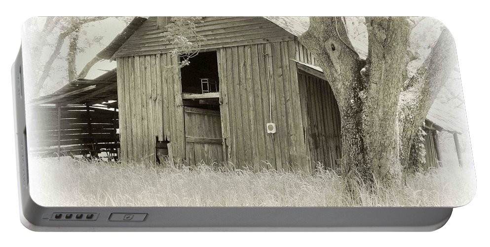 Barn Portable Battery Charger featuring the photograph In The Pecan Orchard by Nelson Strong